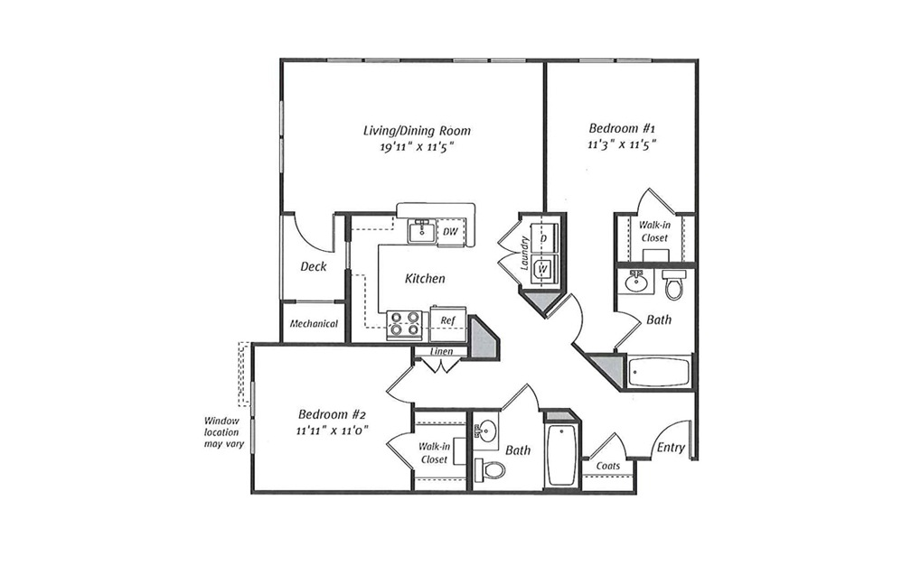 Randolph B6 2 Bed 2 Bath Floorplan