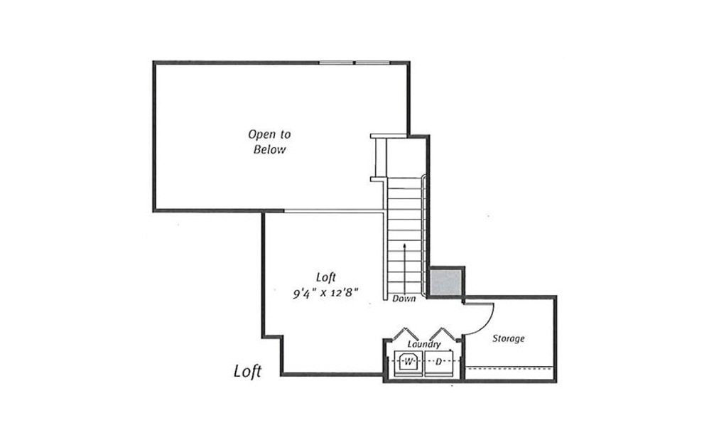Randolph B7L 2 Bed 2 Bath Floorplan